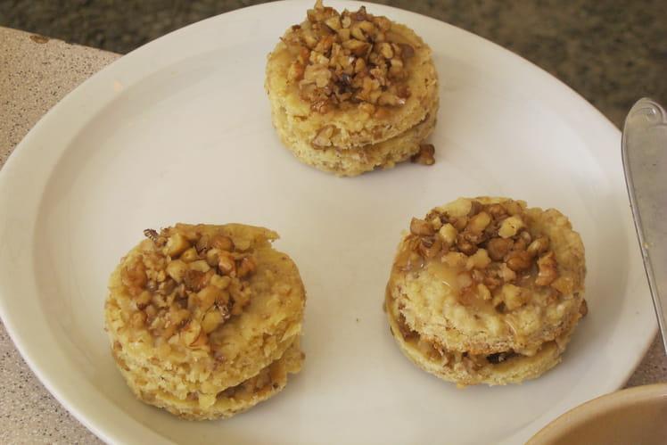 Cookies façon sandwich à la noix et au caramel