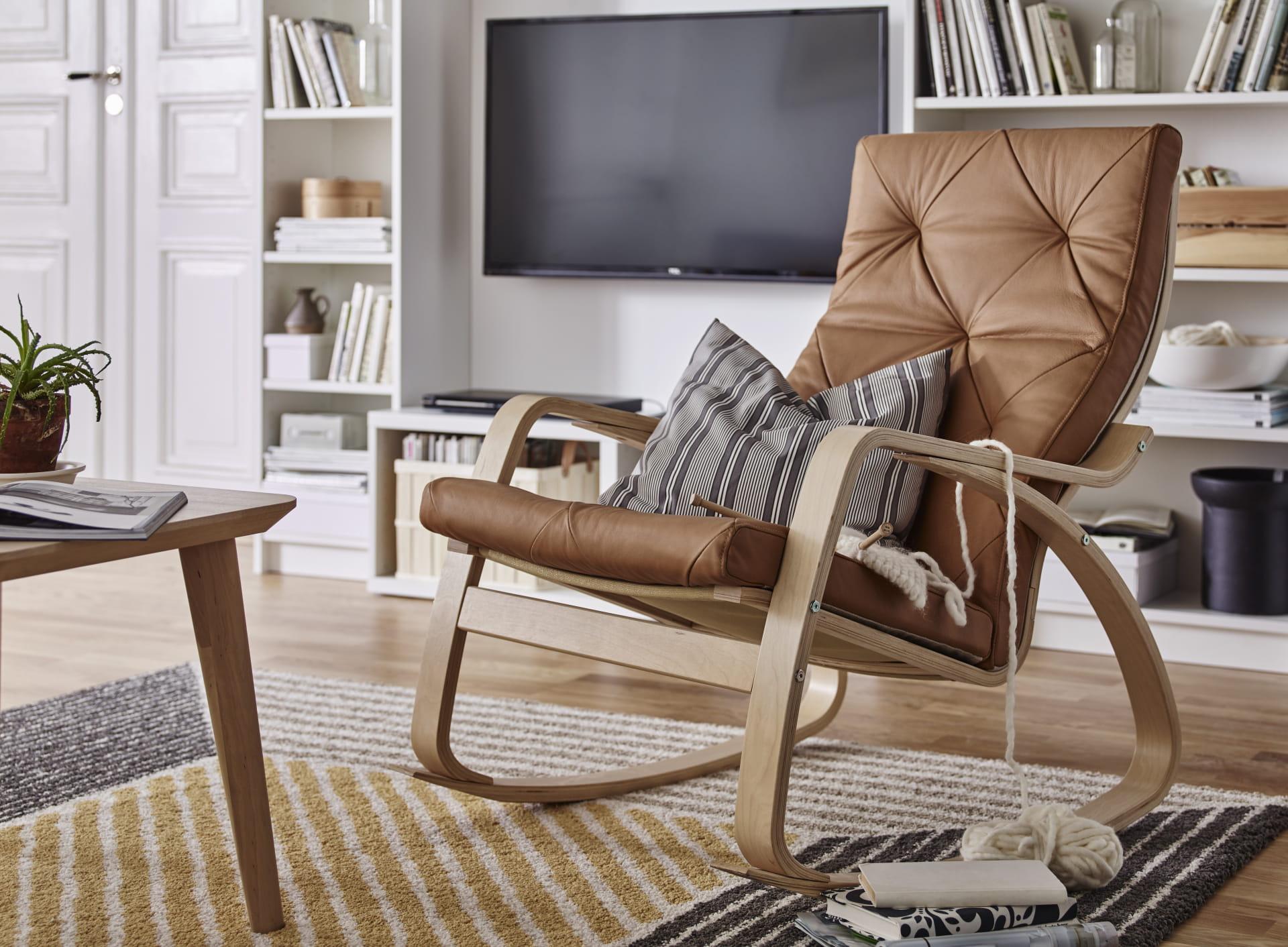 le fauteuil pong en cuir nature prix 250 euros ikea - Ikea Fauteuil