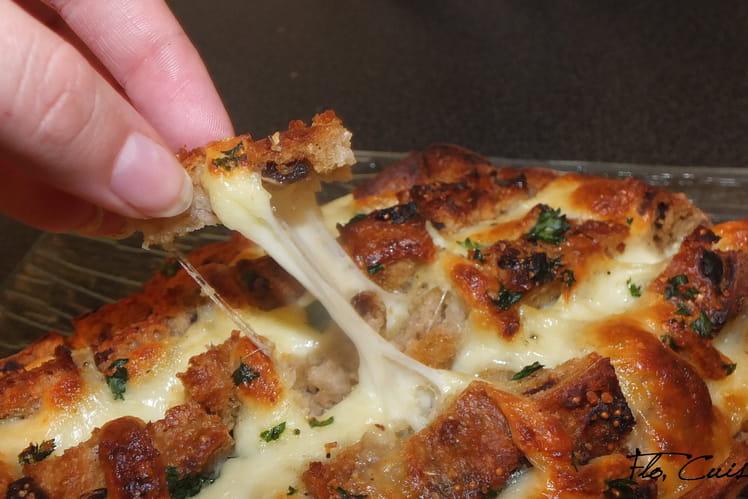 Pain apéritif Cheese and garlic Crack bread