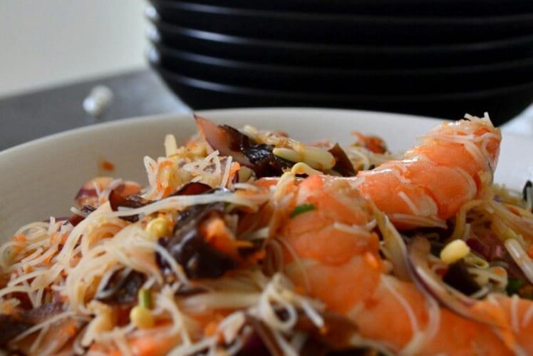 Salade de vermicelles et crevettes