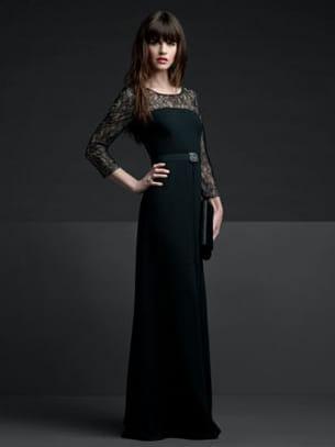 Robe dentelle de alain manoukian for Robes longues pour mariage cravate noire