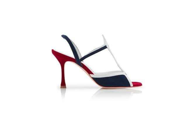 Sandale tricolores de Manolo Blahnik