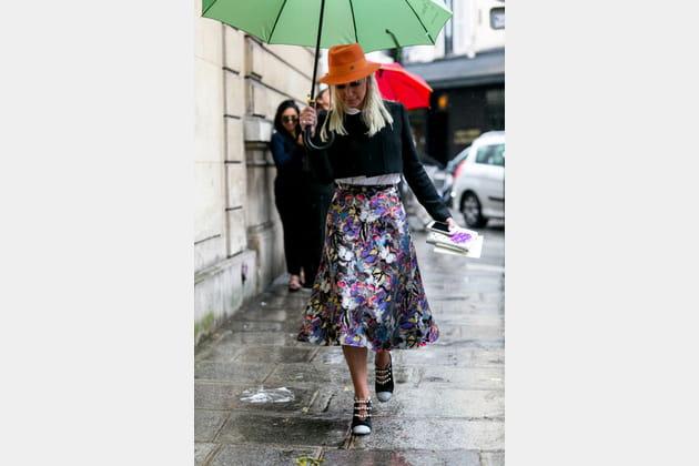 Street looks fashion week haute couture : imprimé