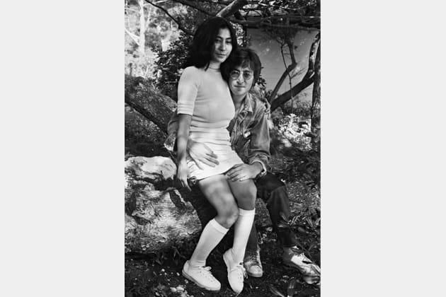 John Lennon et Yoko Ono, amoureux