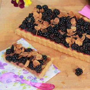 tarte à la rhubarbe et à la mûre