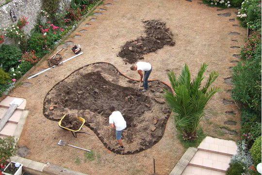 d\'un bassin et d\'un jardin Zen