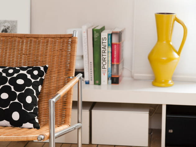 Vase vintage jaune