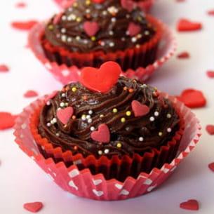 valentine's cupcakes au chocolat