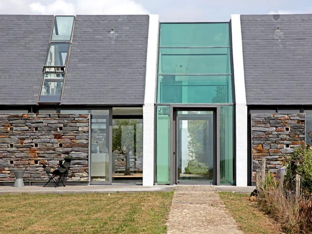 Une longère bretonne en pierre et verre