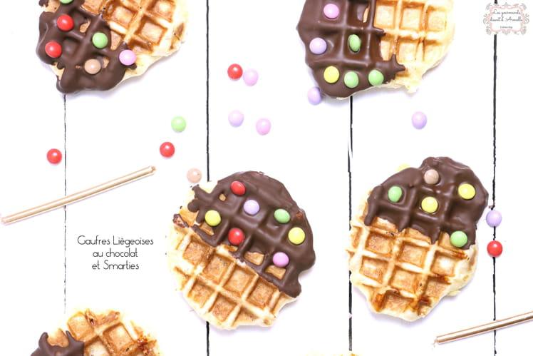 Gaufres liégeoises au chocolat et à la vanille