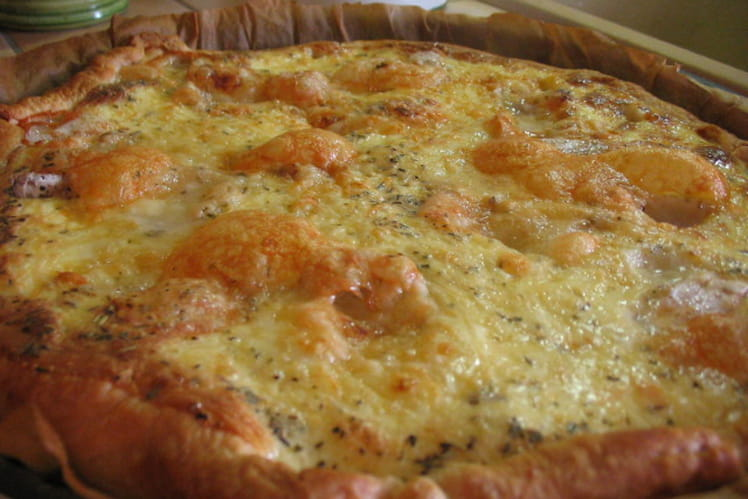 Quiche au jambon et aux 4 fromages
