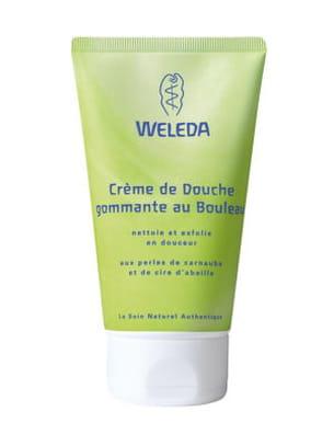 crème de douche gommante au bouleau de weleda