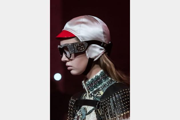 Le bonnet visière du défilé Gucci