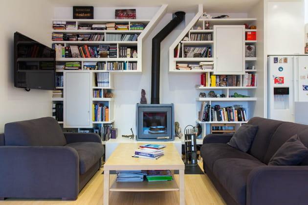 un biblioth que originale. Black Bedroom Furniture Sets. Home Design Ideas