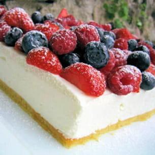 Bavarois au fromage blanc et aux fruits rouges for Miroir aux framboises