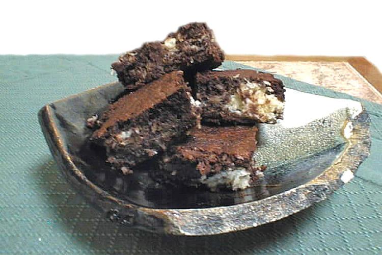 Brownies marbrés coco-choco