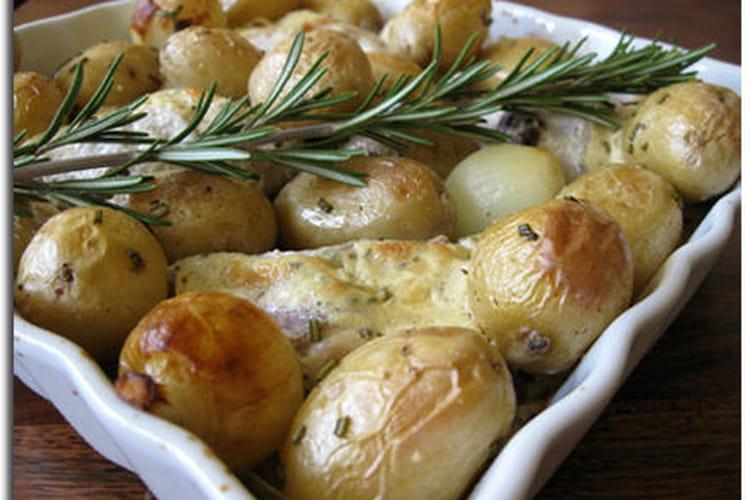Lapin moutarde aux pommes de terre nouvelles