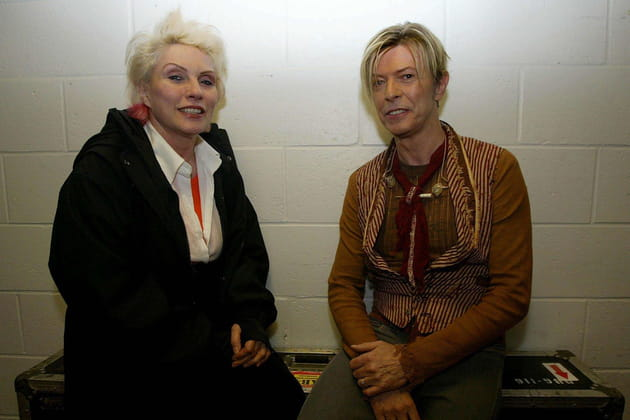 Avec Debbie Harry (Blondie), The Reality Tour in Manchester, novembre 2003