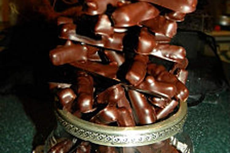 Orangettes au chocolat noir et amandes