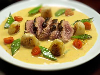 magret de canard au curry rouge thaï
