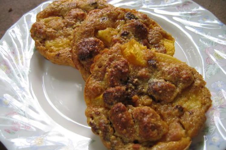 Petits clafoutis nectarines et pain d'épice