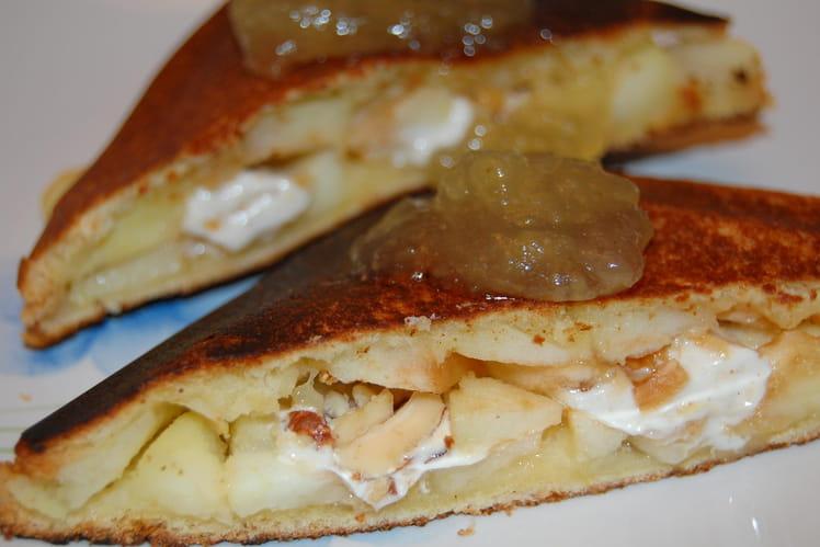 Croque pomme-nougat