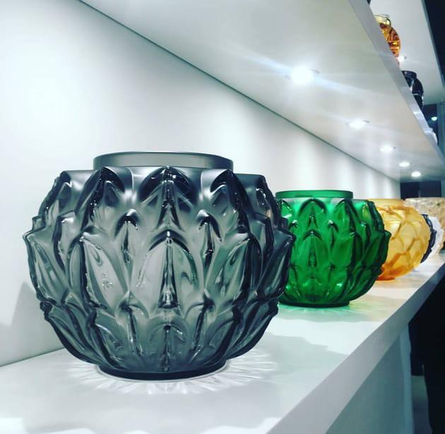 Vase en cristal par Lalique