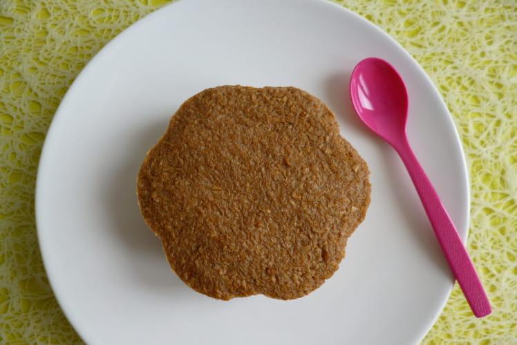 Gâteau cru caramel et chicorée aux pépites de son d'avoine et au psyllium