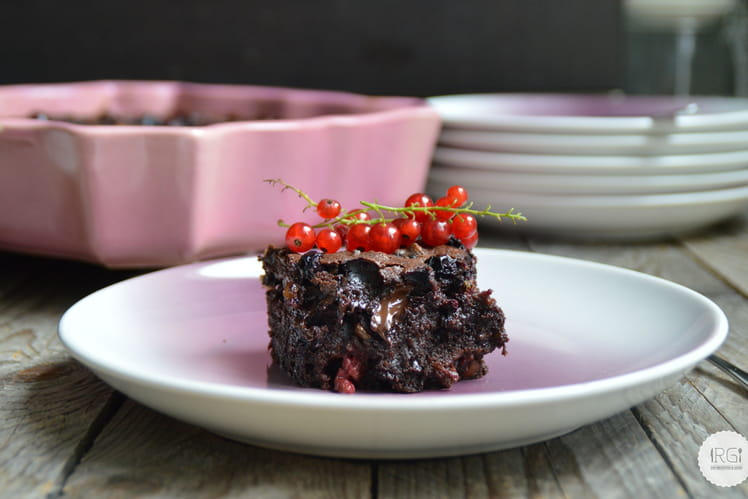 Brownie aux fruits rouges