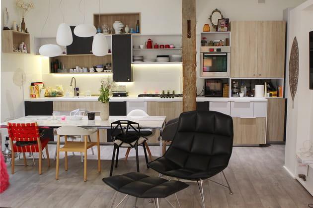 Une cuisine douce en bois