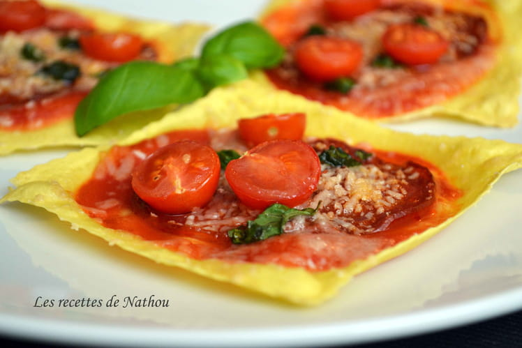 Minis pizzas lasagnes