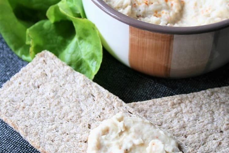 Houmous d'haricots blancs, bio, sans gluten et sans oeufs