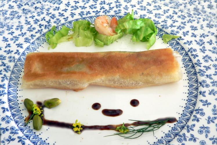 Croustillant de crevettes à l'estragon
