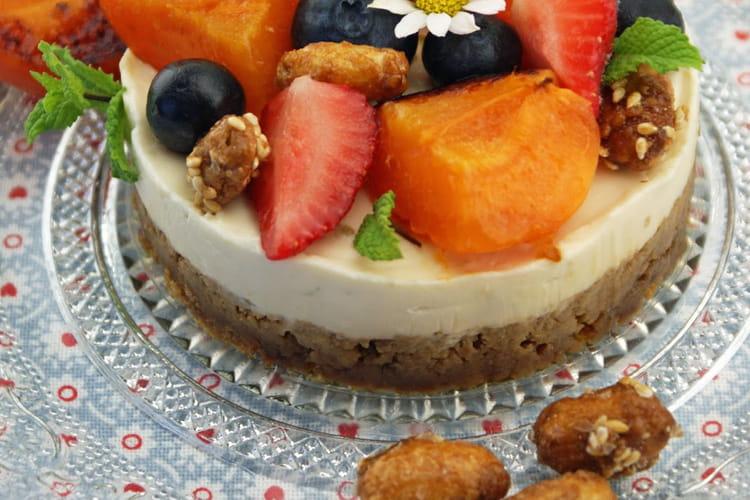 Cheesecake sans cuisson et abricots à la plancha