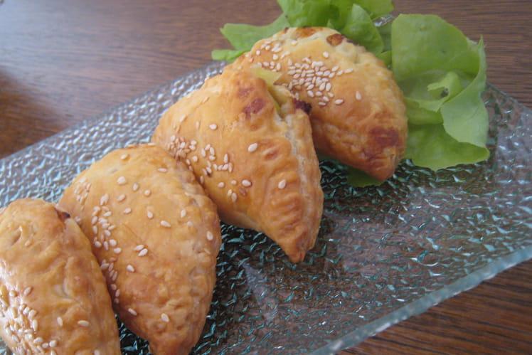 Chaussons poireaux, fromage Saint-Marcellin