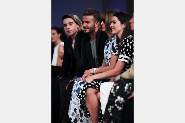 Brooklyn Beckham, David Beckham et Anna Wintour