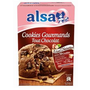 préparation à cookies tout chocolat d'alsa