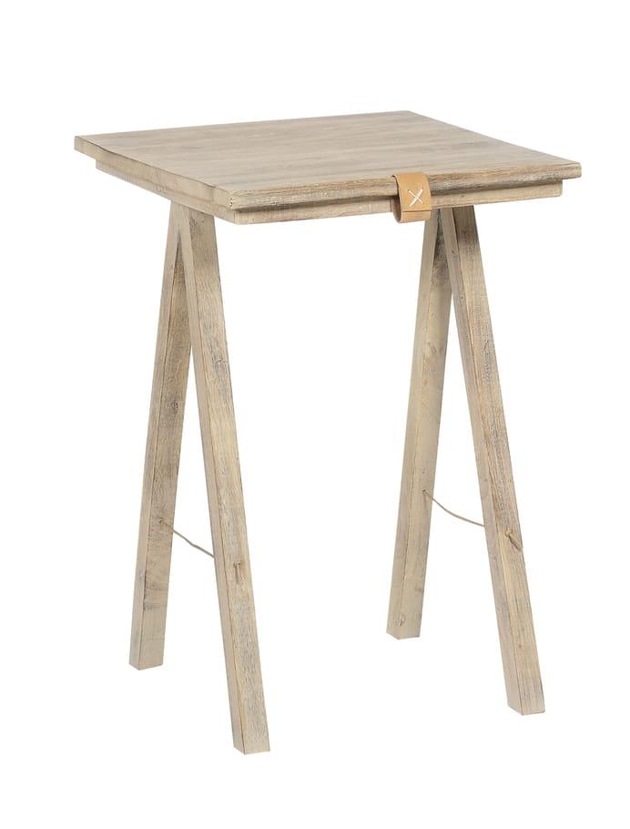 Table d 39 appoint bois et cuir de jardin d 39 ulysse je veux le m me l - Www jardindulysse com ...