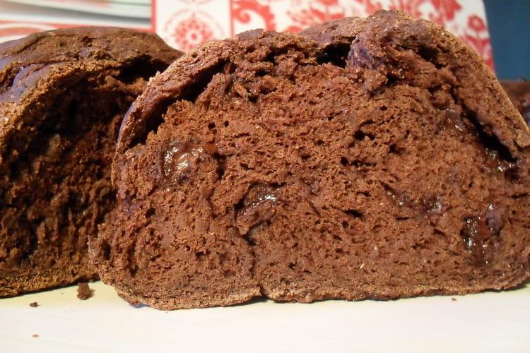 Pain au cacao et pépites chocolat noir