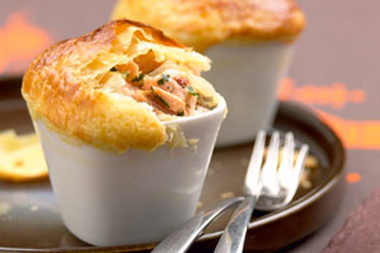 Mini Pie de saumon à la coriandre