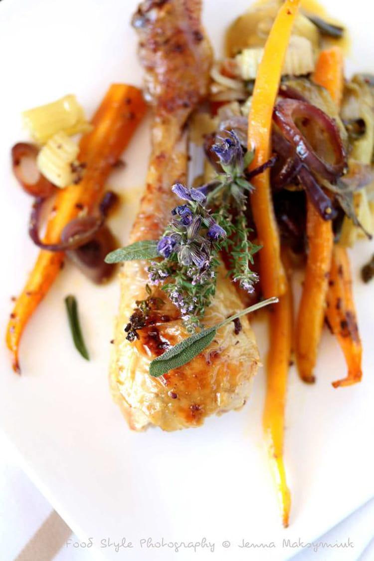 Recette de cuisses de poulet fermier au four la recette facile - Cuisiner des cuisses de poulet ...