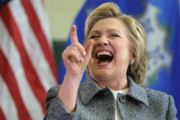 Hillary Clinton a ri jaune