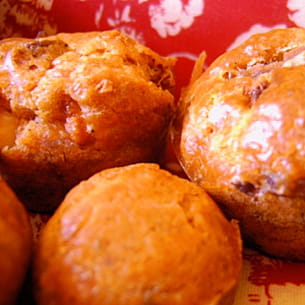 petits cakes salés à l'huile d'olive et à la feta