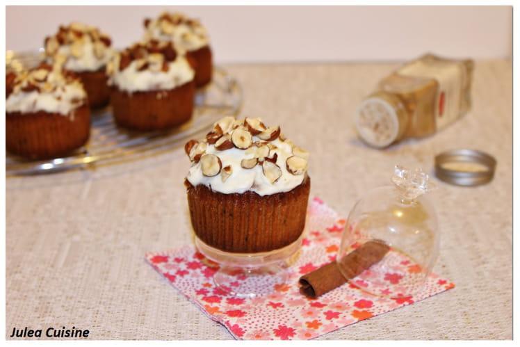 Cupcakes façon banana Bread à la noisette