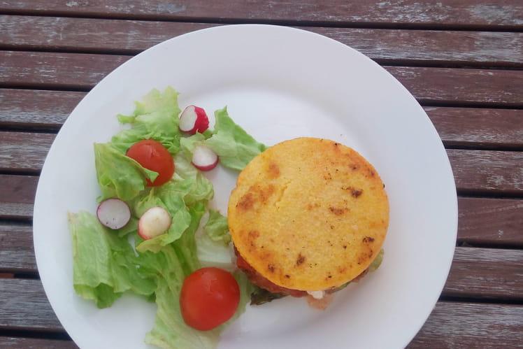 Cheeseburger de polenta