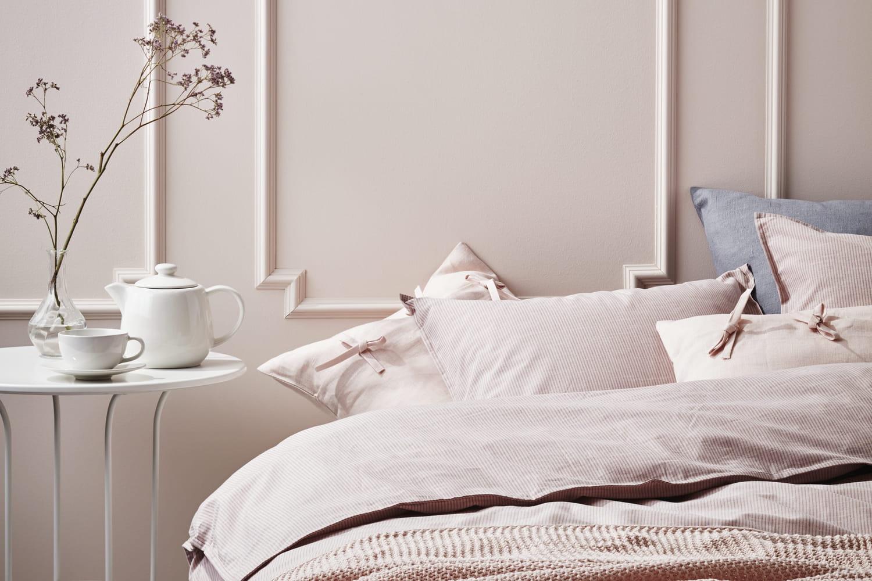 Une chambre de couleur pastel: idéale pour des nuits plus douces