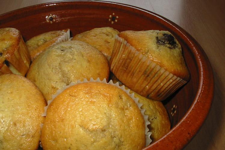 Muffins choco-coco banane