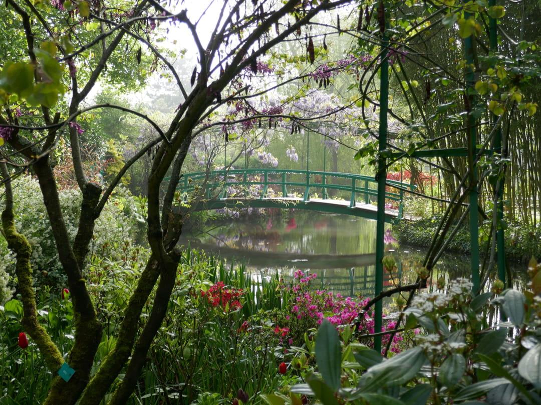 Jardin en fleurs à Giverny