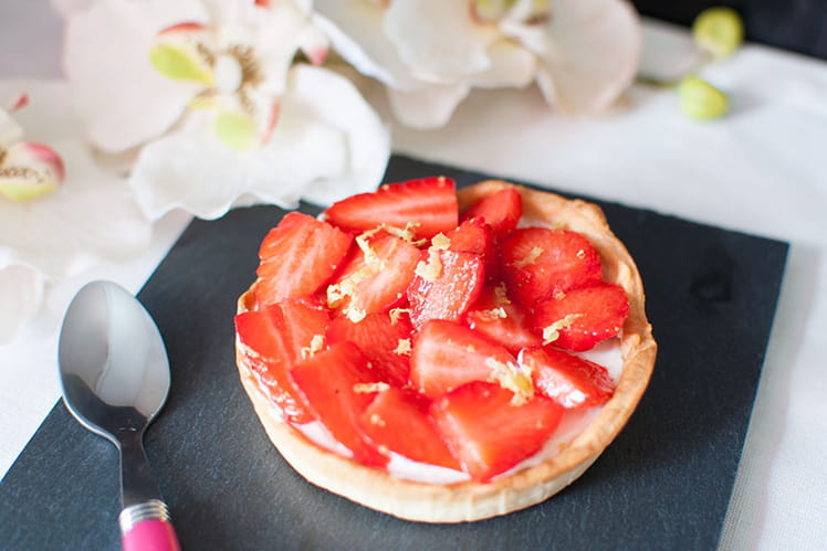 Tartelette fraises, mascarpone au citron