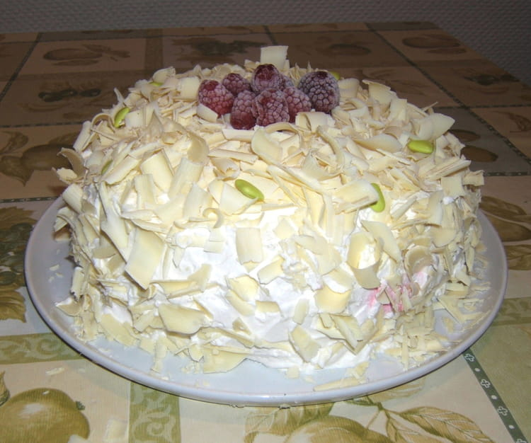 recette de gâteau aux framboises et au chocolat blanc : la recette